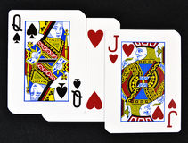 Playing cards with love Royalty Free Stock Photo