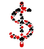 Playing cards for money Royalty Free Stock Photos
