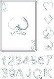 Playing cards numbers. Vector template vector illustration