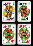Playing Cards On Black Background Royalty Free Stock Image