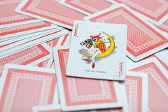 Playing cards one Stock Photography