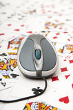 Playing cards online Royalty Free Stock Images
