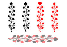 Playing cards pattern. Stock Photos