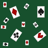 Playing cards. A pattern with playing cards royalty free illustration