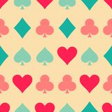 Playing cards pattern Royalty Free Stock Photography