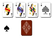 Playing cards  peaks Royalty Free Stock Photos