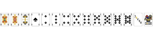 Playing Cards - Pixel Spades PIXEL ART royalty free illustration