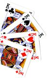 Playing cards, poker. Playing cards,  poker of king Royalty Free Stock Photos