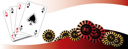 Playing cards / poker. / win / luck / gambling / in vector Stock Photography