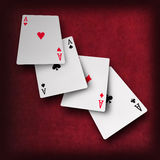 Playing cards poker casino Royalty Free Stock Images