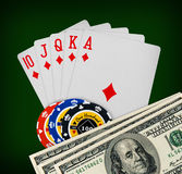 Playing cards poker casino Stock Photography
