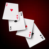 Playing cards poker casino Royalty Free Stock Image