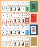 Playing cards for POKER CASSINO RIGHT royalty free illustration