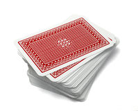 Playing cards poker gamble game leisure Royalty Free Stock Images