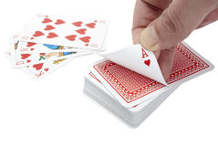 Playing cards poker gamble game leisure Stock Images