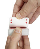 Playing cards poker gamble game leisure stock photography