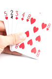 Playing cards - poker game. Playing cards -  isolated on the white background Stock Photos