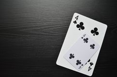 Playing cards. Poker. Game stock image
