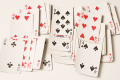 Playing cards. Poker on table Stock Photography