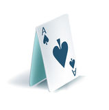 Playing cards pyramid Stock Photography