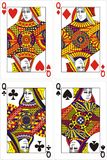 Playing cards queen 60x90 mm vector illustration