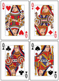 Playing Cards - Queens royalty free illustration