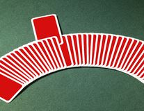 Playing cards in a row Royalty Free Stock Images