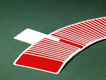 Playing cards in a row Royalty Free Stock Image