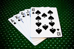 Playing Cards - Royal Flush Stock Photo