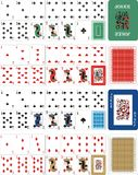 Playing cards for rummy 1 royalty free illustration