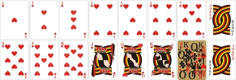 Playing cards for rummy and Cassino stock illustration