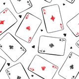 Playing cards. Seamless background. Stock Photos