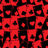 Playing cards seamless background pattern Stock Images