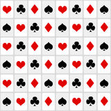 Playing cards seamless background Royalty Free Stock Photo
