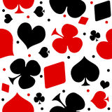 Playing cards seamless background Stock Photo