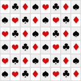Playing cards seamless background Stock Image