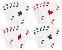 Playing cards set Royalty Free Stock Images