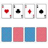 Playing cards set of four ace Stock Photography