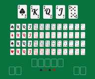 Playing cards set vector illustration