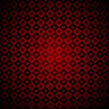 Playing cards signs red and black casino checkered background. Playing cards signs red and black casino checkered background with dark vignette Stock Photography