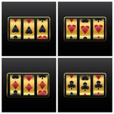 Playing cards slot machine Stock Photography