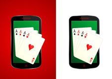 Playing cards smartphone - cdr format Stock Photography