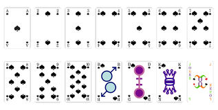 Playing cards spade Royalty Free Stock Image