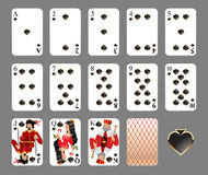 Playing cards - spade suit Royalty Free Stock Photos