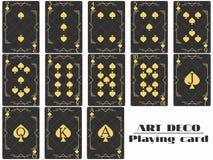 Playing cards spade suit. Poker cards original design art deco style. Vector. Illustration vector illustration