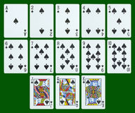 Playing cards - spades Royalty Free Stock Photo