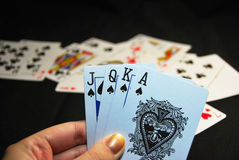 Playing cards spades Royalty Free Stock Photos