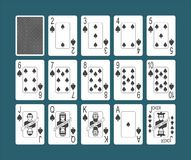 Playing Cards Spades Set Vector Illustration