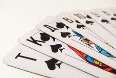 Playing cards. Spread out like a fan Stock Photography