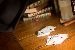 Playing cards in still life Royalty Free Stock Photos